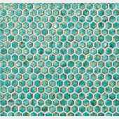 6DHT dwell turquoise hexagon gold Мозаика